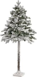 half christmas tree 5ft half christmas tree with snow kibox