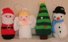 free knitting patterns santa snowman and tree