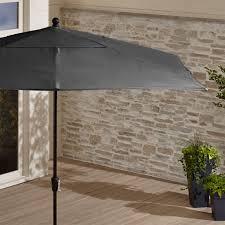 Grey Patio Umbrella Rectangular Patio Umbrella By Sunbrella In Patio Umbrellas