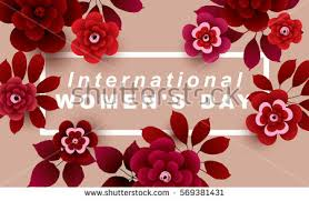 flowers for s day international womens day card flowers 8 stock vector 569381431