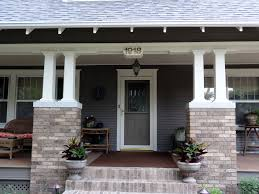 exterior inspiring porch column design with two wood and brick
