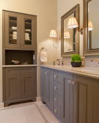 How Tall Are Bathroom Vanities St Louis Tall Cabinet Bathroom Traditional With Soaking Tub Nickel
