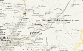 teotihuacan map san juan teotihuacan location guide