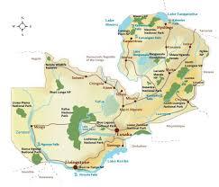 map of zambia rivers in zambia