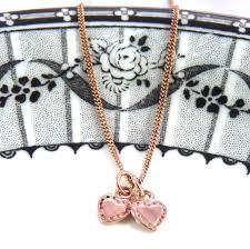 rose gold tiny tiny hearts necklace joy everley fine jewellers