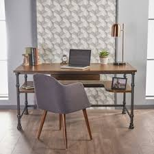 Industrial Writing Desk by Furniture Of America Daimon Industrial Medium Oak Writing Desk