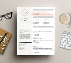 modern cv template for ms word resume templates creative market