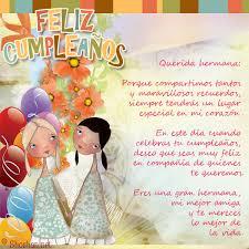 imagenes hermana querida feliz cumpleaños imagen para facebook de un saludo cumpleaños para una hermana