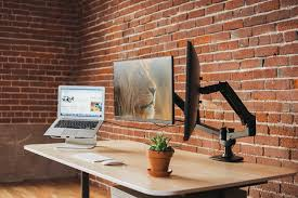 Laptop Desk Setup The Best Monitor Arms Reviews By Wirecutter A New York Times