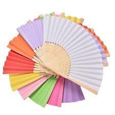 held fans for wedding aliexpress buy 1pcs style bamboo paper pocket fan
