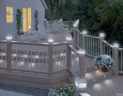 Solar Lights For Patio Luxury Terrace Area With Post Cap Style Solar Deck Lights Wooden
