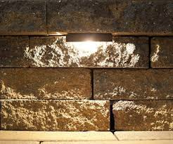 retaining wall lights under cap the nox lighting led retaining wall light is designed to be