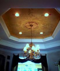 painting tray ceiling a different color panels paint wainscot
