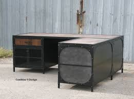 Distressed Wood File Cabinet by Buy A Hand Crafted Vintage Industrial Desk W Return Reclaimed