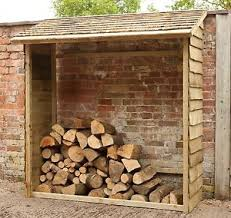 forest wooden garden wall log store 6 x 3ft from the argos shop