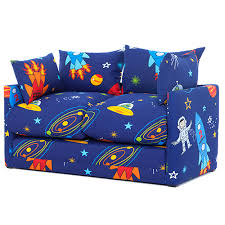 space boy print children u0027s bedroom sofa bed fold out futon guest