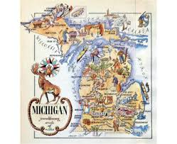Travel Map Of Usa by Maps Of Michigan State Collection Of Detailed Maps Of Michigan