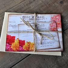 postcard wedding invitations floral vintage postcard wedding invitation by feel wedding