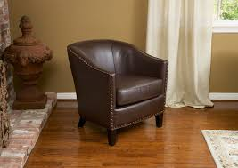 Leather Club Armchair Carlton Brown Bonded Leather Club Chair Contemporary Living