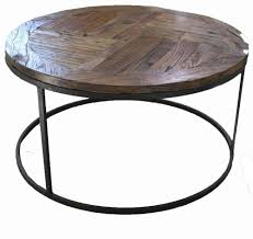 round industrial side table industrial round coffee table urban beach lifestyle furniture nz