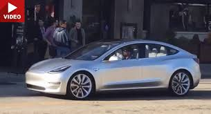 tesla model 3 is alive and rolling in california