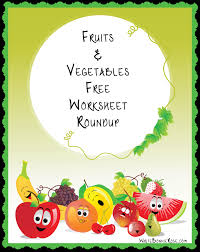 worksheets for kids fruits and vegetables roundup