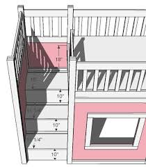 Ana White Storage Stairs For The Playhouse Loft Bed DIY Projects - Plans to build bunk beds with stairs