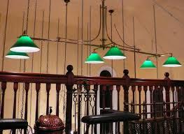 pool table ceiling lights vintage pool table lights