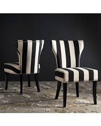 Black Accent Chair Get The Deal 25 Off Safavieh Striped Accent Chair 2 Piece Set Black