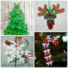 puzzle ornaments for to make crafty morning