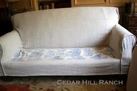 Slipcover Chair And Ottoman My Slipcovering Tips Cedar Hill Farmhouse