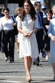 kate middleton elegant knee length white lace cocktail dress
