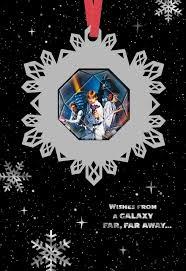 star wars season u0027s greetings christmas card with ornament