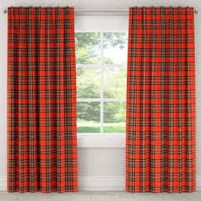 Plaid Blackout Curtains Plaid Curtains Drapes For Less Overstock