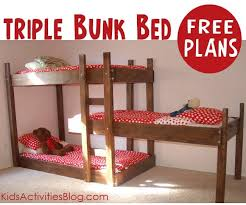 Build A Bunk Bed Build Your Own Triple Bunk Bed Free Plans