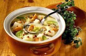 recette cuisine pomme de terre soupe de pommes de terre au bacon et aux chignons à l origan