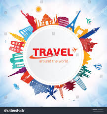 travel around world stock vector 399352891