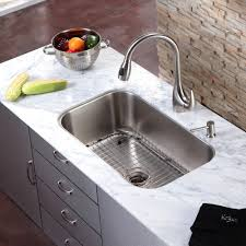 single kitchen sink faucet single bowl sink with two faucets