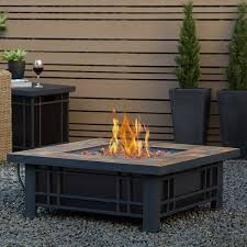 Patio Table With Built In Fire Pit - fire pit tables
