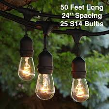 outdoor patio string lights heavy duty hanging patio lights 50