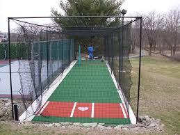 backyard batting cages and pitching machine delightful outdoor ideas