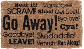 custom go away cat doormat door welcome mat rug cover amazing