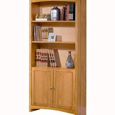 Wide Bookcase With Doors Alder Shaker 30 Wide Bookcase With Doors