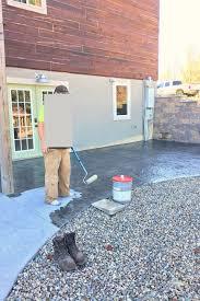 Cement Patio Sealer Diy Stamped Concrete Patio Creative Cain Cabin