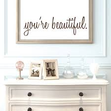 inspirational wall decals you u0027re beautiful bathroom