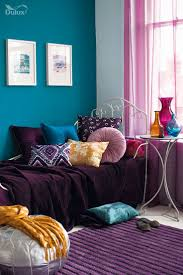 brown and plum living room purple sofa what colour walls purple