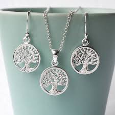 silver jewellery necklace sets images Silver tree of life jewellery set by martha jackson sterling jpg