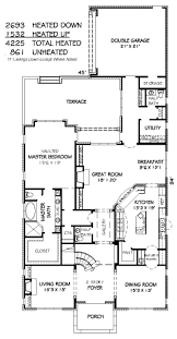 bungalow style house plan 4 beds 4 baths 4225 sq ft plan 424