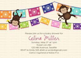 diaper baby shower invitation monkey baby shower invitation fiesta papel picado mexican gender