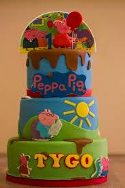 peppa pig birthday cakes two sided peppa pig paw patrol birthday cake cake by